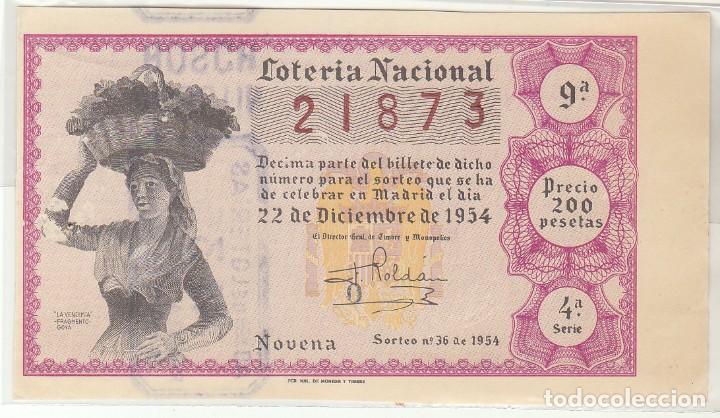 DÉCIMO SORTEO : 22 DICIEMBRE 1954. (Coleccionismo - Lotería Nacional)