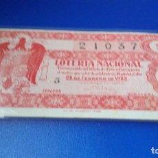 Lotería Nacional: DÉCIMO DE LOTERÍA 1953 SORTEO 6. Lote 70294229