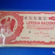 Lotería Nacional: DÉCIMO DE LOTERÍA NACIONAL 1953 SORTEO 9. Lote 70294753
