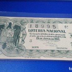 Lotería Nacional: DÉCIMO DE LOTERÍA 1953 SORTEO N 18. Lote 70296729