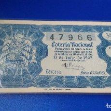 Lotería Nacional - Décimo de lotería 1953 sorteo n 20 - 70297329