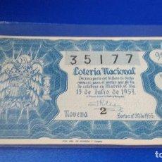 Lotería Nacional - Décimo de lotería 1953 sorteo n 20 - 70297421