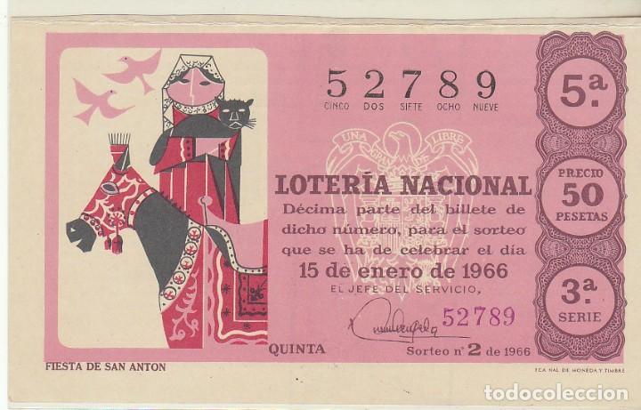 DÉCIMO SORTEO (2) : 15 ENERO 1966. (Coleccionismo - Lotería Nacional)