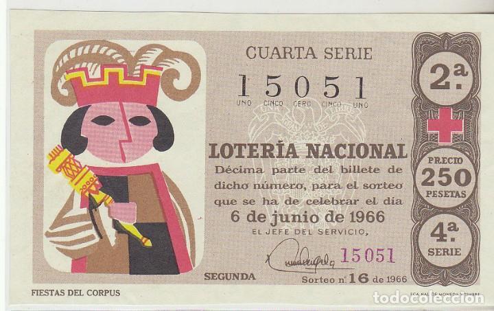 DÉCIMO SORTEO (16) : 6 JUNIO 1966. (Coleccionismo - Lotería Nacional)