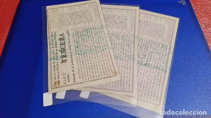 Lotería Nacional: 3 Décimos de lotería nacional del año 1950 sorteo nº 32 - Foto 2 - 71082517