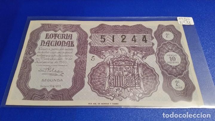 Lotería Nacional: 3 Décimos de lotería nacional del año 1950 sorteo nº 32 - Foto 4 - 71082517