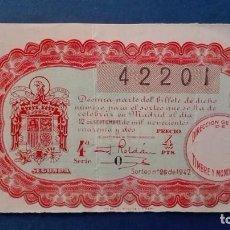 Lotería Nacional: DECIMO DE LOTERIA DE 1942 SORTEO 26. Lote 71689987