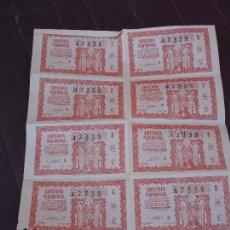 Lotería Nacional: BILLETE DE LOTERIA 15 ENERO 1959. Lote 71748839