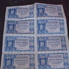 Lotería Nacional: BILLETE DE LOTERIA 25 ABRIL 1959. Lote 71758063