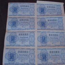 Lotería Nacional: BILLETE DE LOTERIA 25 JUNIO 1952. Lote 71758427