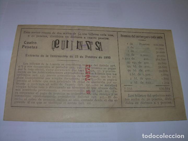 Lotería Nacional: DECIMO LOTERIA.....AÑO TRIUNFAL..1.939 - Foto 3 - 73416351