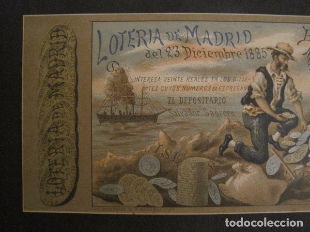 Lotería Nacional: LOTERIA DE MADRID - 23 DE DICIEMBRE DE 1885 -VER FOTOS - (V-8493) - Foto 2 - 74073451
