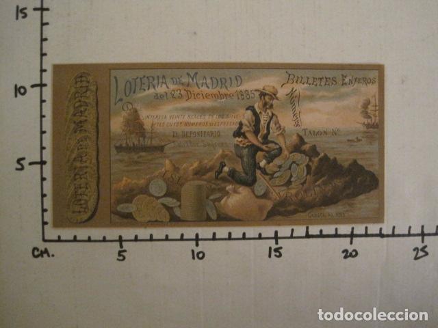 Lotería Nacional: LOTERIA DE MADRID - 23 DE DICIEMBRE DE 1885 -VER FOTOS - (V-8493) - Foto 5 - 74073451