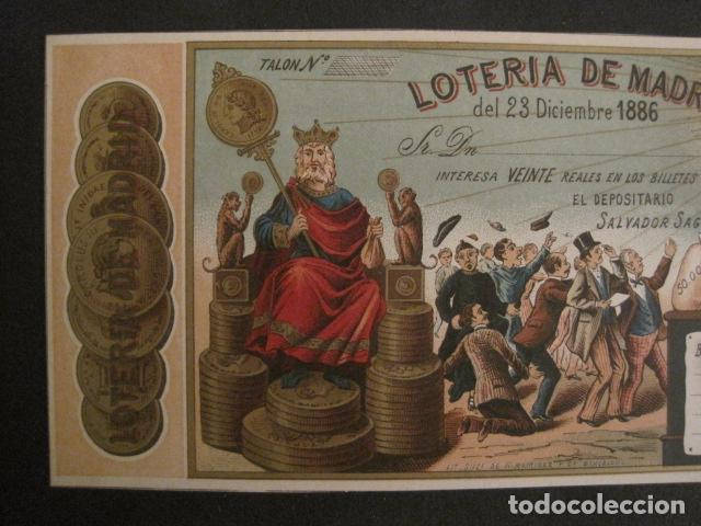 Lotería Nacional: LOTERIA DE MADRID - 23 DE DICIEMBRE DE 1886 -VER FOTOS - (V-8494) - Foto 3 - 74073551