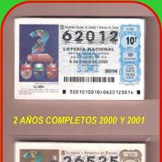 Lotería Nacional: 2 AÑOS COMPLETO 2000 Y 2001 LOTERIA NACIONAL DEL SABADO. Lote 74304031