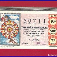 Lotería Nacional: AÑO COMPLETO 1970 LOTERIA NACIONAL DEL SABADO. Lote 78311755