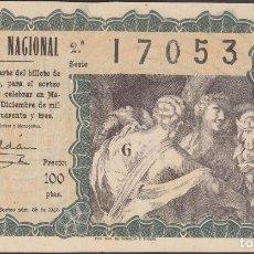 Lotería Nacional: LOTERIA NACIONAL - SORTEO - 36-1943 - SERIE 2ª FRACCIÓN 11ª - VALENCIA. Lote 74911807
