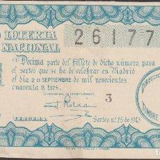 Lotería Nacional: LOTERIA NACIONAL - SORTEO - 25-1943. Lote 75106839