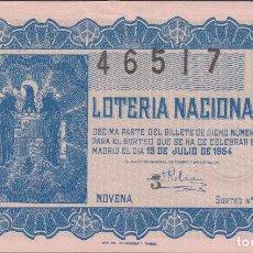 Lotería Nacional: LOTERIA NACIONAL - SORTEO - 20-1954. Lote 75183715