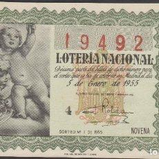 Lotería Nacional: LOTERIA NACIONAL - SORTEO - 1-1955. Lote 75184471