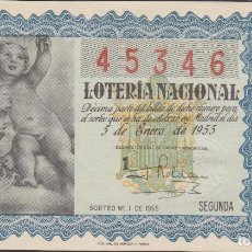 Lotería Nacional: LOTERIA NACIONAL - SORTEO - SORTEO - 1-1955. Lote 75184615