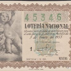 Lotería Nacional: LOTERIA NACIONAL - SORTEO - 1-1955. Lote 75185471