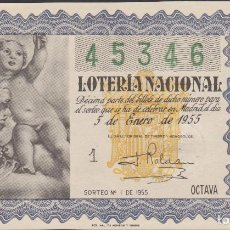 Lotería Nacional: LOTERIA NACIONAL - SORTEO - 1-1955. Lote 75185503