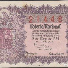 Lotería Nacional: LOTERIA NACIONAL - SORTEO - 13-1955. Lote 75186327