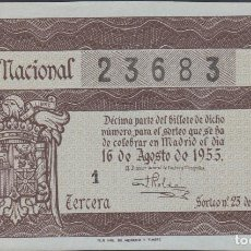 Lotería Nacional: LOTERIA NACIONAL - SORTEO - 23-1955. Lote 75187087