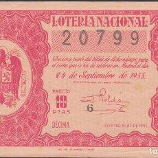 Lotería Nacional: LOTERIA NACIONAL - SORTEO - 27-1955. Lote 75187403