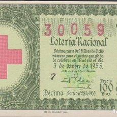 Lotería Nacional: LOTERIA NACIONAL - SORTEO - 28-1955 - SERIE 1ª FRACCIÓN 10ª - BARCELONA. Lote 75187591