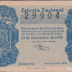 Lotería Nacional: LOTERIA NACIONAL - SORTEO - 35-1955. Lote 75188751