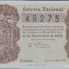 Lotería Nacional: LOTERIA NACIONAL - SORTEO - 35-1955. Lote 75188883