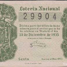 Lotería Nacional: LOTERIA NACIONAL - SORTEO - 35-1955. Lote 75189047