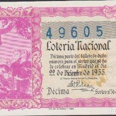 Lotería Nacional: LOTERIA NACIONAL - SORTEO - 36-1955 - SERIE 8ª FRACCIÓN 10ª. Lote 75189491