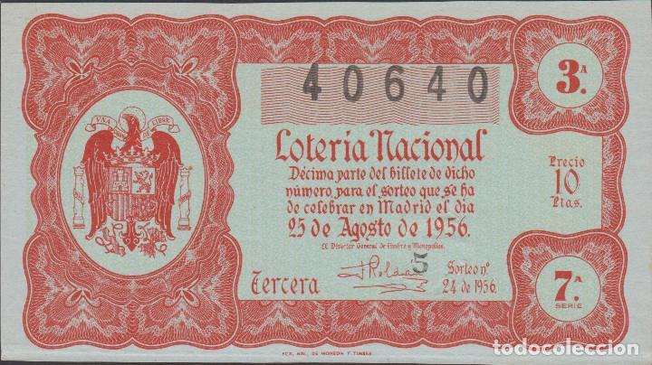 LOTERIA NACIONAL - SORTEO - 24-1956 (Coleccionismo - Lotería Nacional)