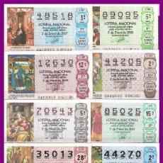 Lotería Nacional: OFERTA 10 AÑOS COMPLETOS LOTERIA NACIONAL DEL SABADO DEL 1987 AL 1996. Lote 76148699