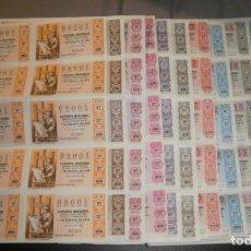 Lotería Nacional: LOTERÍA NACIONAL. PLIEGOS DE 10 DÉCIMOS, 11 DIFERENTES DE 1975, 1976 Y 1993. Lote 76808595