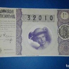 Lotería Nacional: DECIMO DE LOTERIA DE 1950 SORTEO 21. Lote 77504881