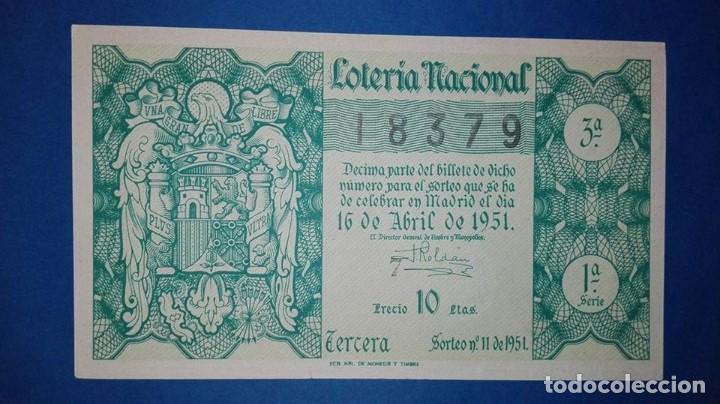 DECIMO DE LOTERIA DE 1951 SORTEO 11 (Coleccionismo - Lotería Nacional)
