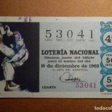 Lotería Nacional: LOTERIA NACIONAL DE ESPAÑA - SORTEO Nº 35 DE 1968 - 16 DE DICIEMBRE - 53041. Lote 77521005