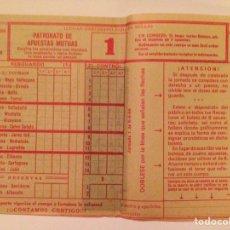 Lotería Nacional: QUINIELA/BOLETO/DEPORTIVO. JORNADA 1. (8-8-68).-. Lote 77838354