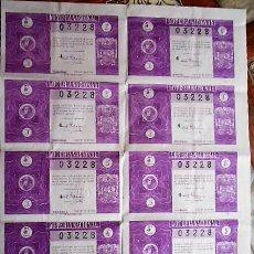 Lotería Nacional: BILLETE DE 10 DECIMOS DE LOTERIA NACIONAL DEL SORTEO 15 DE 25 DE MAYO DE 1946. SIN CORTAR. Lote 78578045