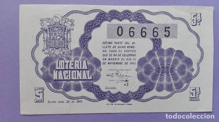 DECIMO DE LOTERIA DE 1945 SORTEO 32 (Coleccionismo - Lotería Nacional)