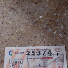 Lotería Nacional: DECIMO LOTERIA NACIONAL. ATHLETIC CLUB.. Lote 78602305