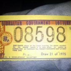Lotería Nacional: DIFISILISIMO NUMERO LOTERIA NACIONAL DECIMO CUPON GIBRALTAR GOVERNMENT LOTTERY 1975 . Lote 80385589
