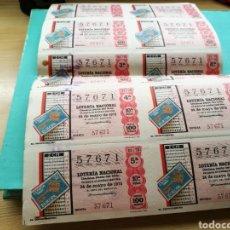 Lotería Nacional: TIRA COMPLETA DE 6 DÉCIMOS DE LOTERÍA NACIONAL DEL SORTEO DEL 24 DE MAYO DE 1976. DE ÁGUILAS (MURCIA. Lote 84085982