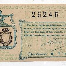 Lotería Nacional: DÉCIMO. SORTEO Nº 35 DE 1904.. Lote 84215912
