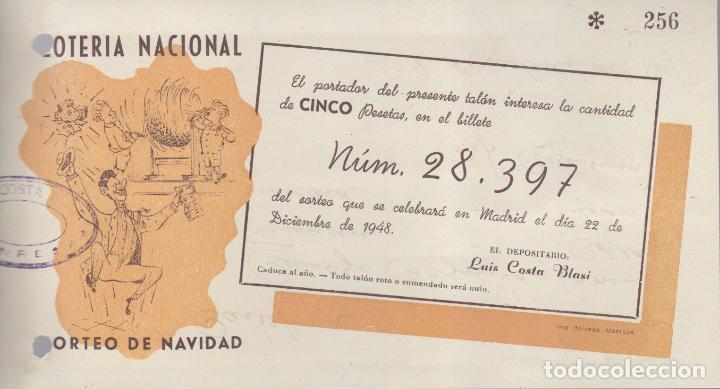 PARTICIPACION DE LOTERIA NACIONAL AÑO 1948 - NAVIDAD (Coleccionismo - Lotería Nacional)