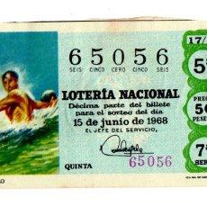 Lotería Nacional - Lotería Nacional - Water polo - Deportes - nº 65013 - 15/06/1968 - 84940640